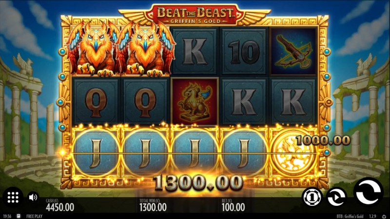 Beat the Beast Griffin's Gold :: A five of a kind win