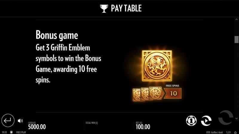 Beat the Beast Griffin's Gold :: Bonus Game