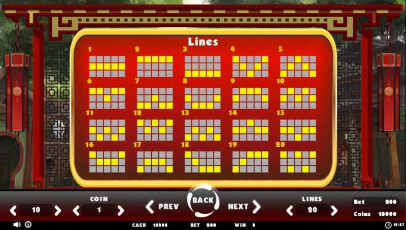 Beating Slot Old China :: Paylines 1-20