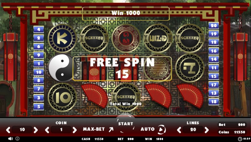 Beating Slot Old China :: Scatter symbols triggers the free spins feature