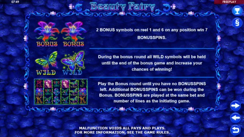 Beauty Fairy :: Free Spins Rules