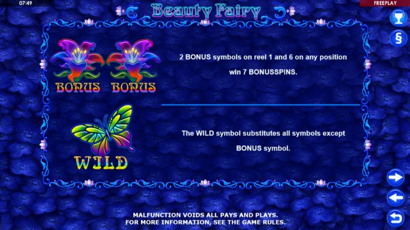 Beauty Fairy :: Wild and Scatter Rules