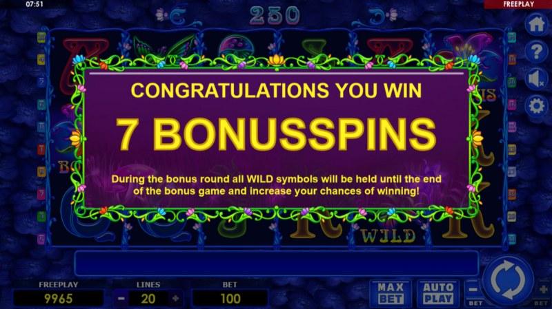 Beauty Fairy :: 7 Free Spins Awarded