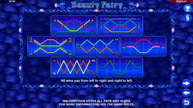 Beauty Fairy :: Paylines 1-20