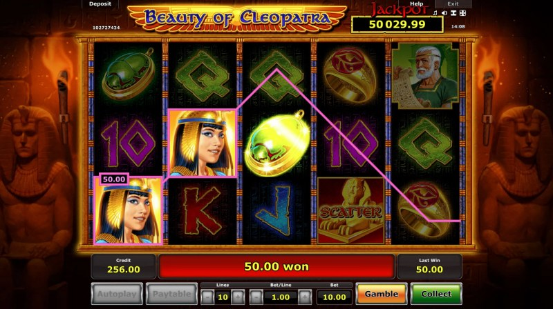 Beauty of Cleopatra :: Free Spins Game Board