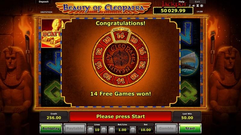 Beauty of Cleopatra :: 14 Free Games Awarded