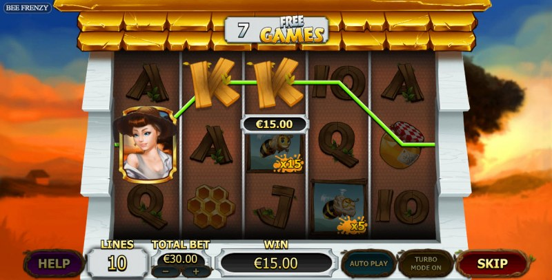 Bee Frenzy :: Free Spins Game Board