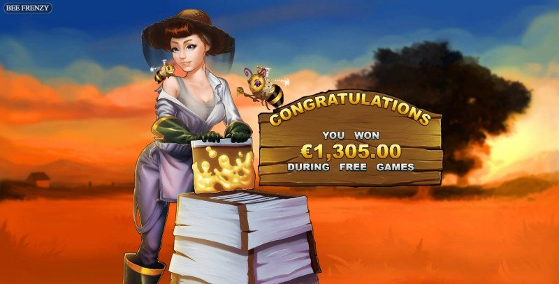 Bee Frenzy :: Total Free Spins Payout