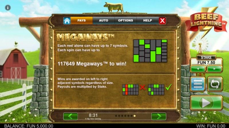 Beef Lightning Megaways :: 117649 Ways to Win