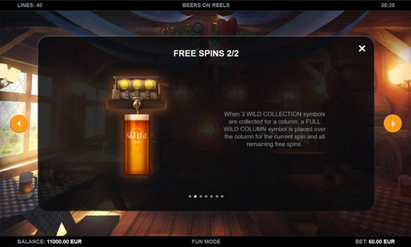 Beers on Reels :: Free Spin Feature Rules