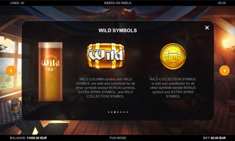 Beers on Reels :: Wild Symbol Rules