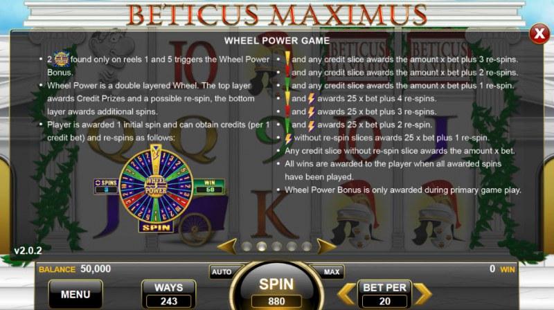 Beticus Maximus :: Wheel Power Game