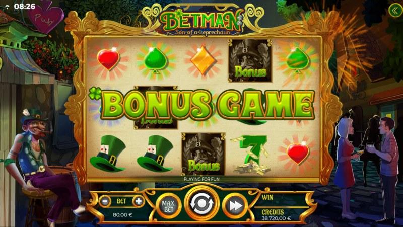 Betman Son of a Leprechaun :: Scatter symbols triggers bonus feature