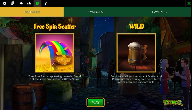 Betrick Son of a Leprechaun :: Wild and Scatter Rules