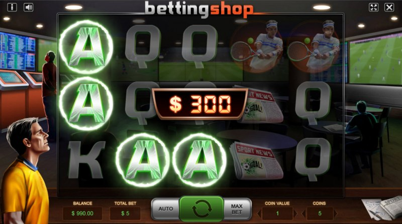 Betting Shop :: A three of a kind win
