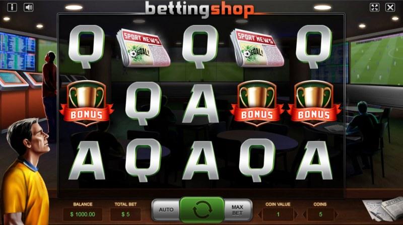 Betting Shop :: Base Game Screen