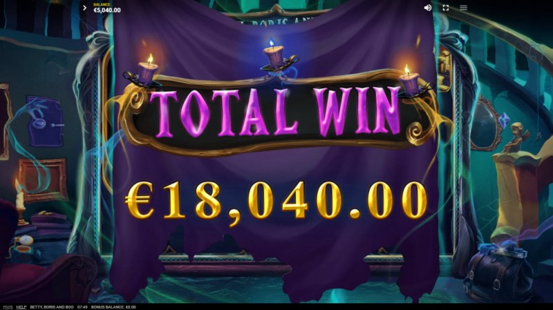 Betty, Boris and Boo :: Total Free Spins Payout