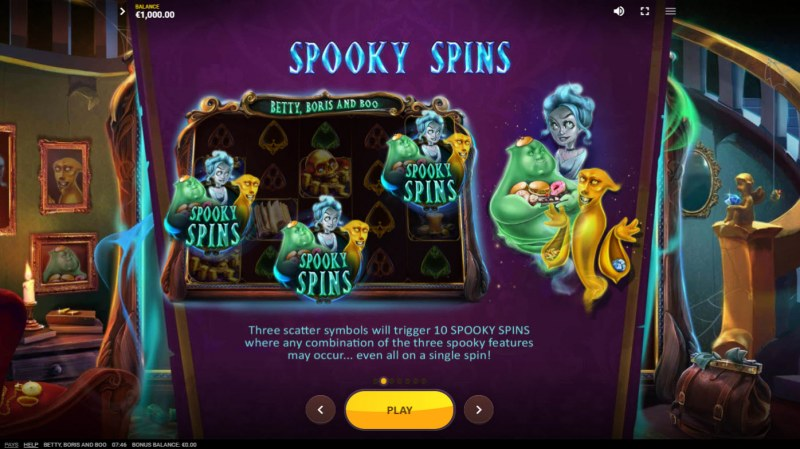 Betty, Boris and Boo :: Free Spin Feature Rules