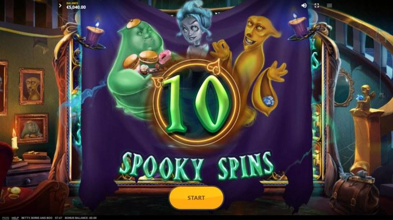 Betty, Boris and Boo :: 10 free spins awarded