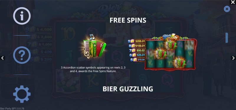 Bier Party :: Free Spin Feature Rules