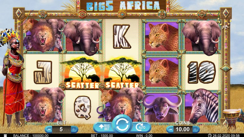 Big 5 Africa :: Main Game Board