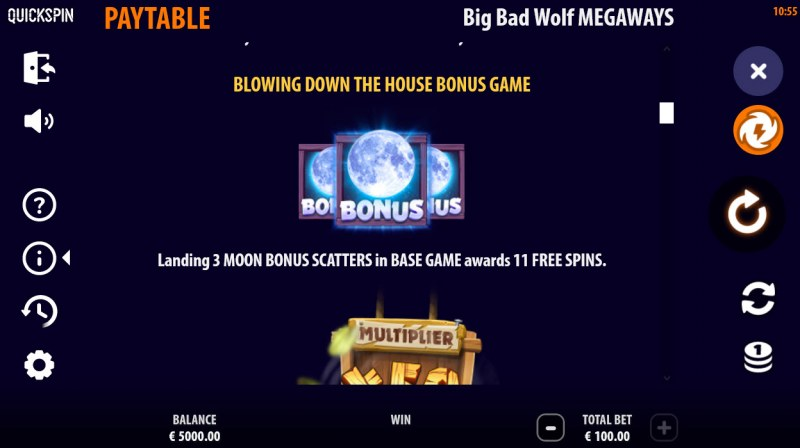 Big Bad Wolf Megaways :: Blowing Down The House Bonus Game