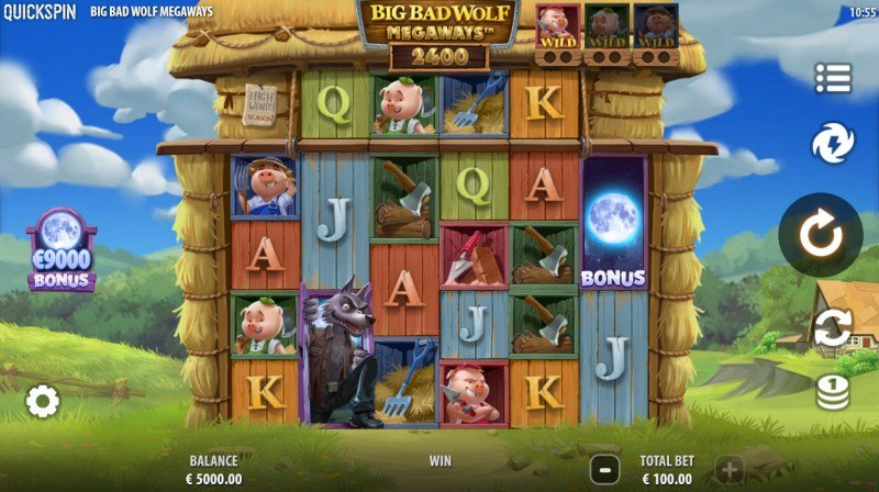 Big Bad Wolf Megaways :: Base Game Screen