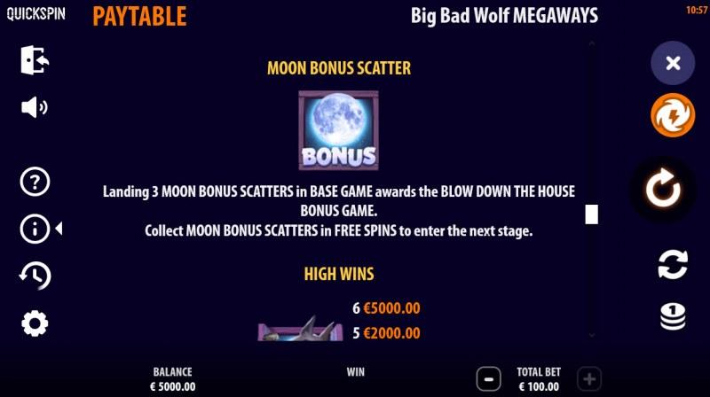 Big Bad Wolf Megaways :: Scatter Symbol Rules