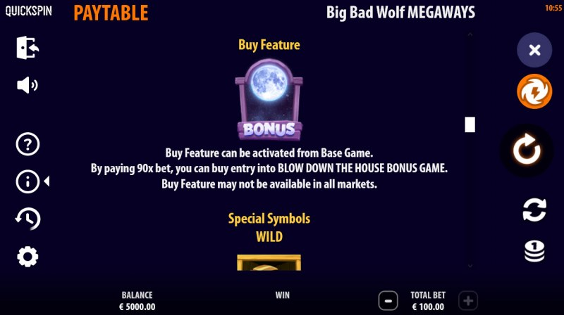 Big Bad Wolf Megaways :: Buy Feature