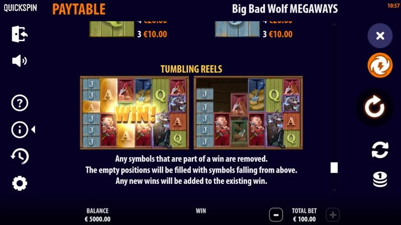 Big Bad Wolf Megaways :: Tumbling Reels