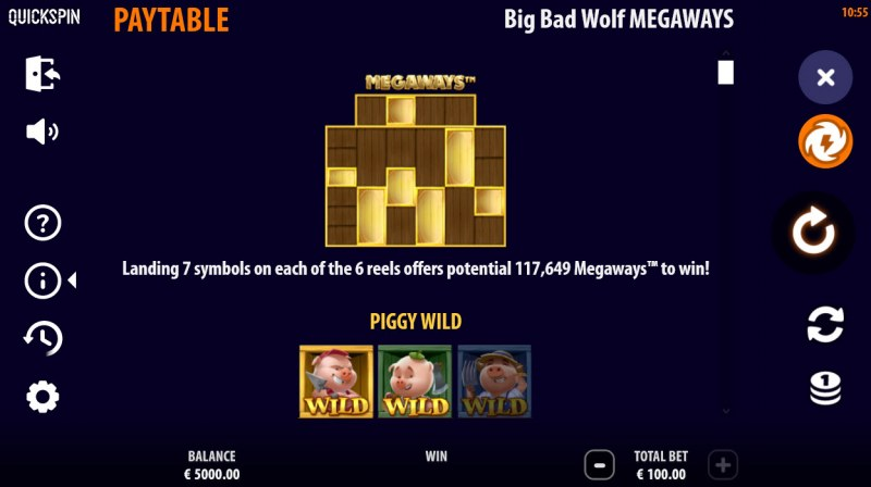 Big Bad Wolf Megaways :: Up to 117649 Megaways