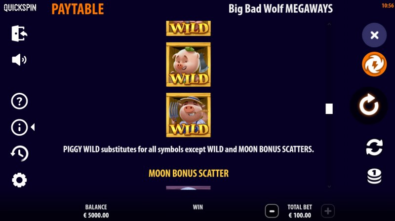Big Bad Wolf Megaways :: Wild Symbol Rules