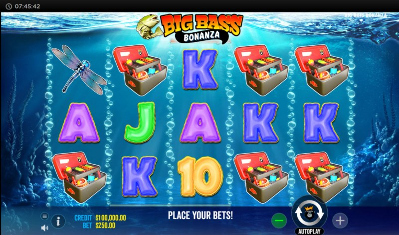 Big Bass Bonanza :: Main Game Board