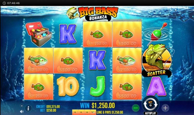 Big Bass Bonanza :: Multiple winning paylines