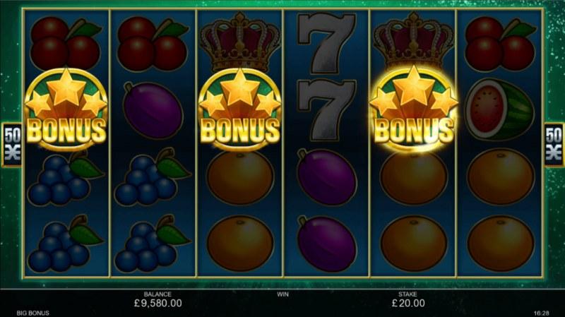 Big Bonus :: Scatter symbols triggers the free spins bonus feature