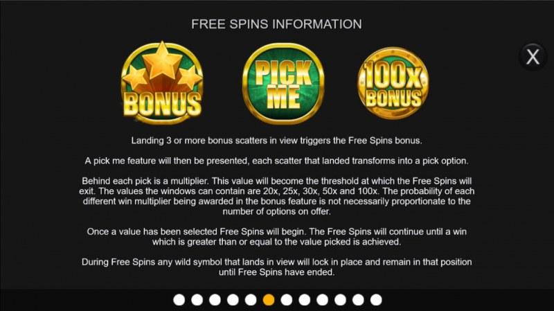 Big Bonus :: Free Spin Feature Rules
