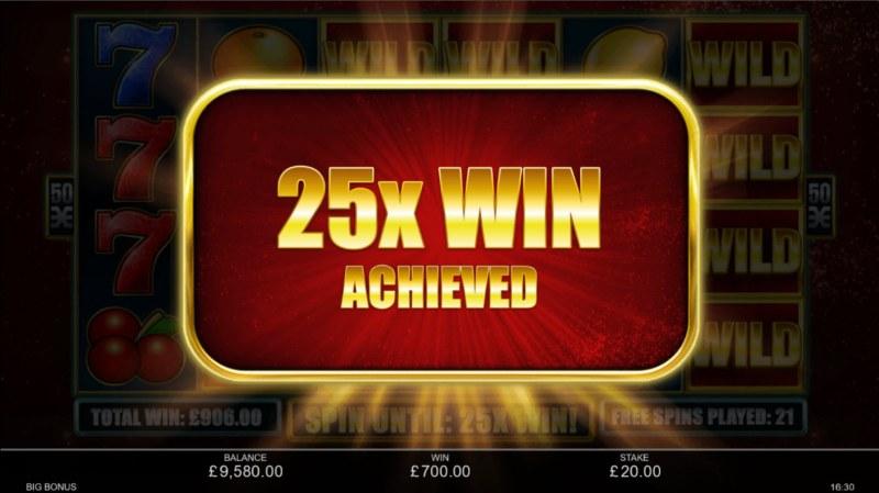 Big Bonus :: 25X win achieved