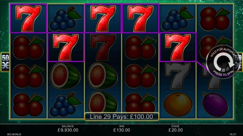 Big Bonus :: A five of a kind win