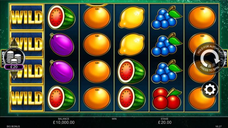 Big Bonus :: Base Game Screen