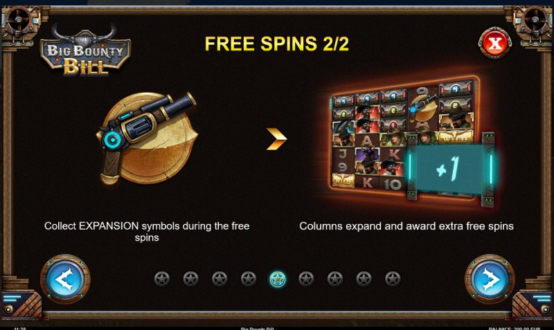 Big Bounty Bill :: Free Spins Rules