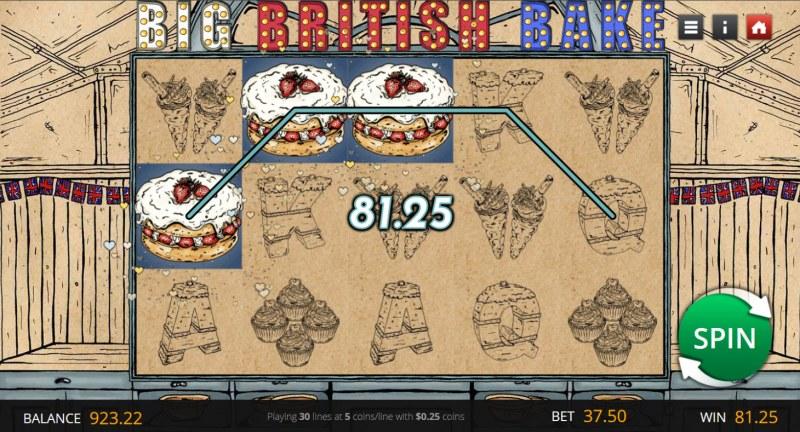 Big British Bake :: A three of a kind win