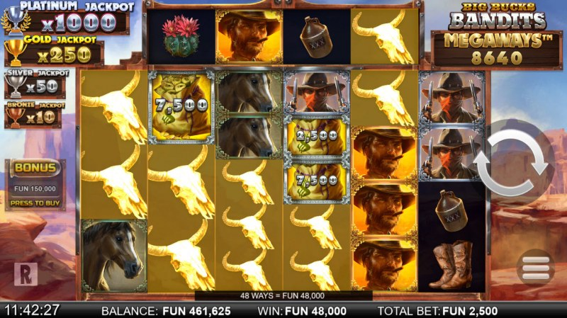 Big Bucks Bandits Megaways :: Multiple winning combinations