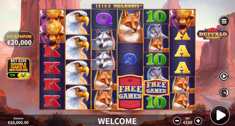 Big Buffalo Megaways :: Base Game Screen