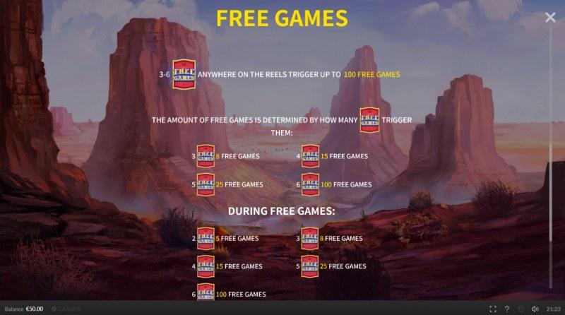 Big Buffalo :: Free Spins Rules