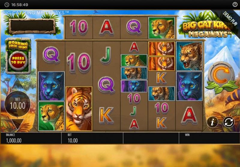 Big Cat King Megaways :: Main Game Board