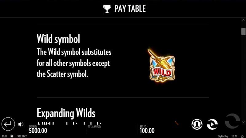 Big Fin Bay :: Wild Symbol Rules