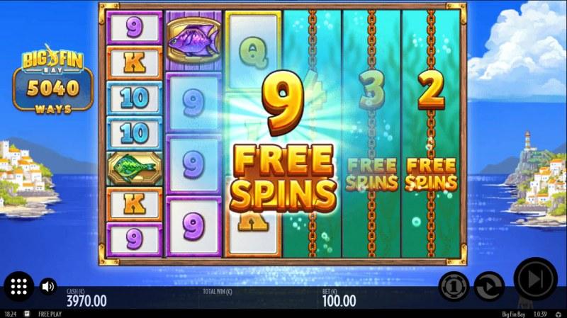 Big Fin Bay :: 9 free spins awarded