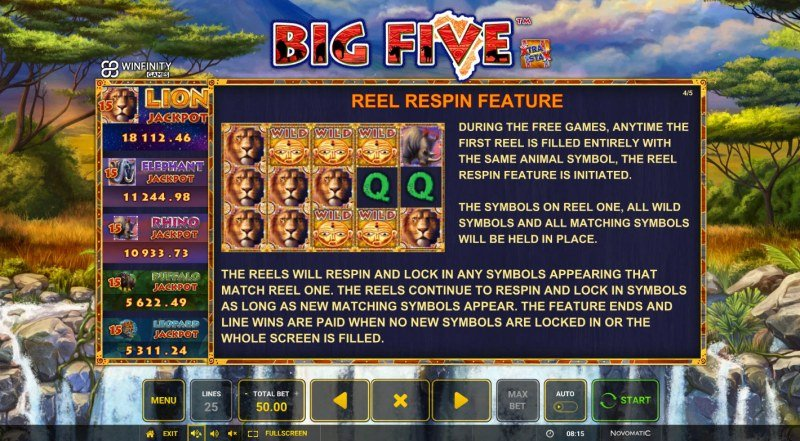 Big Five :: Reel Respin Feature