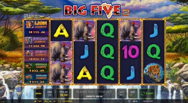 Big Five :: Main Game Board