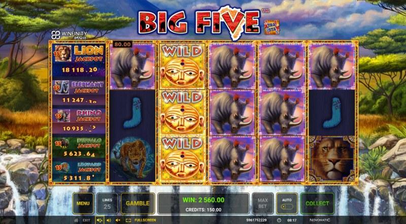 Big Five :: Multiple winning combinations lead to a big win